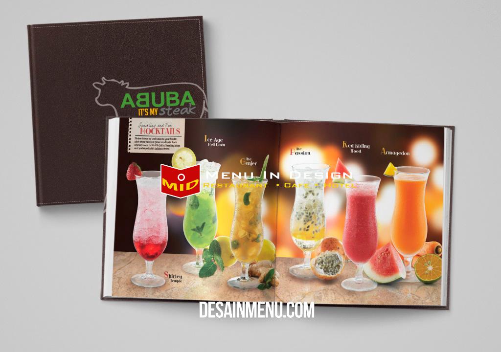 desain menu restoran setak
