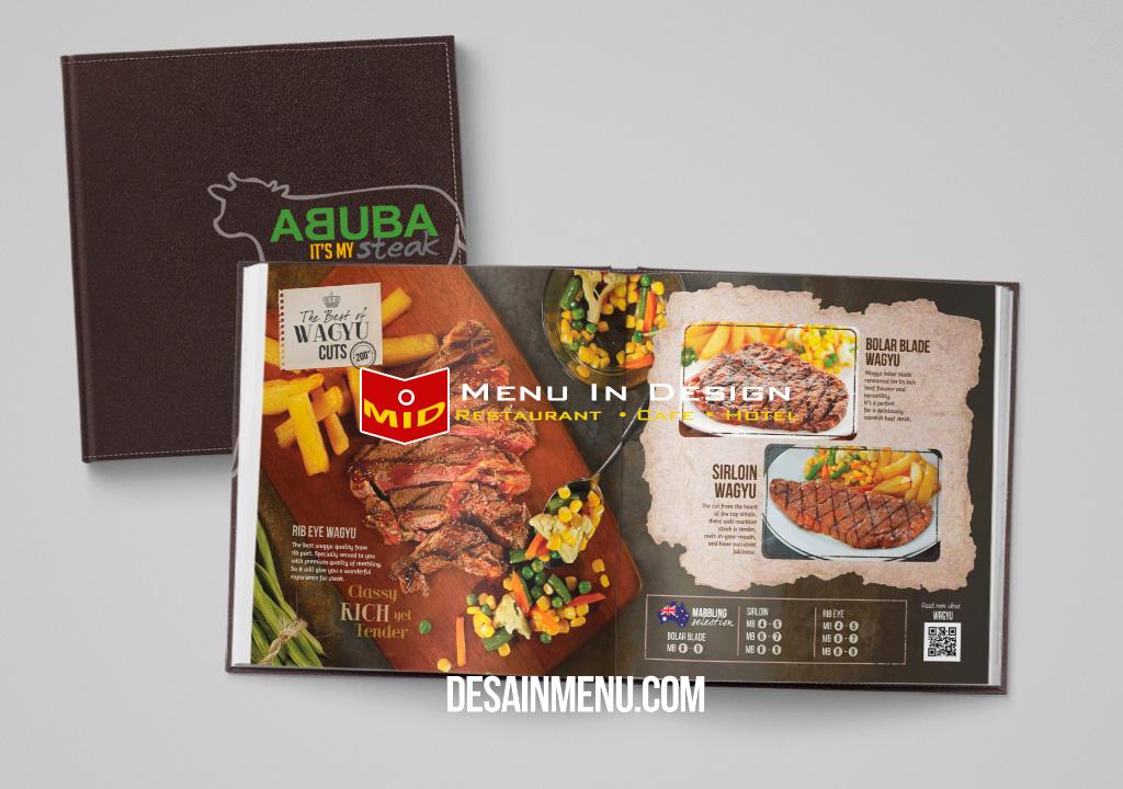 desain menu restoran steak