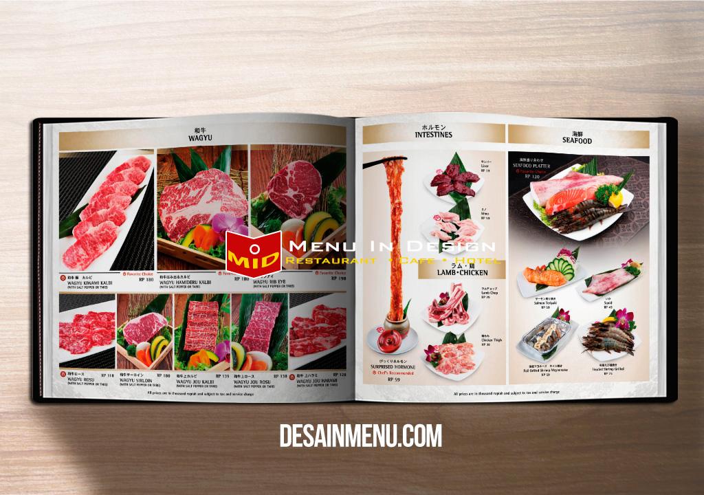 Desain menu restoran jepang