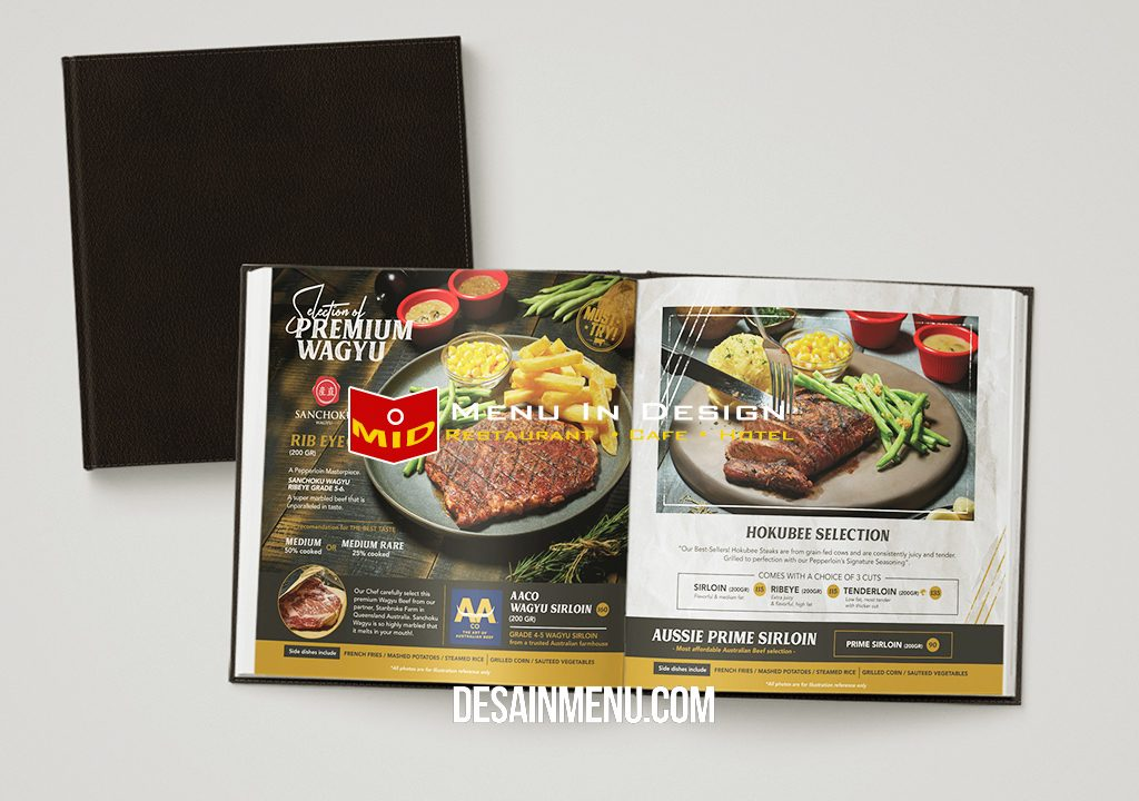 desain menu, pepperloin steak house