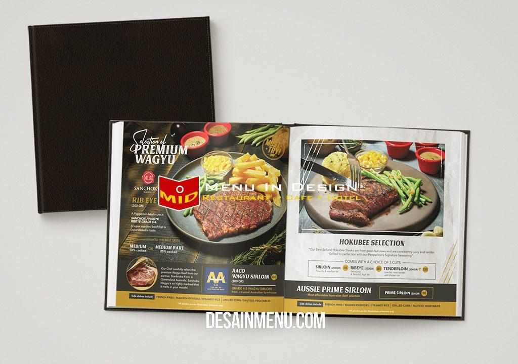 desain menu, pepperloin steak house