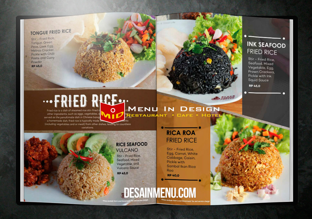 desain menu restoran black Cayon